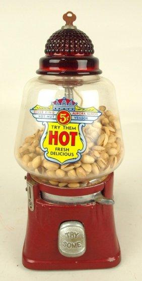 Silver King Hot Nut Vendor, 5 Cent