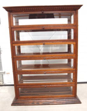 Oak Country General Store Ribbon Display Case By A.n.
