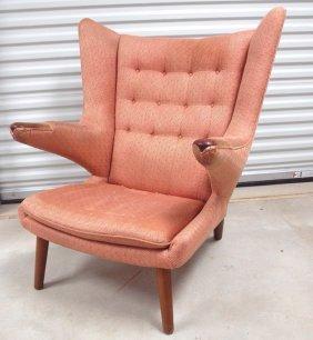 "Hans Wegner ""papa Bear"" Midcentury Modern Chair, Round"