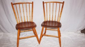Pair Of Windsor Side Chairs