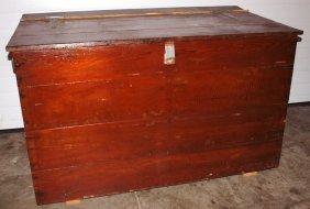 "Early Wood Lift Top Feed Box, 50""w, 32""h"