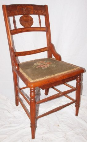 Side Chair With Needlepoint Seat