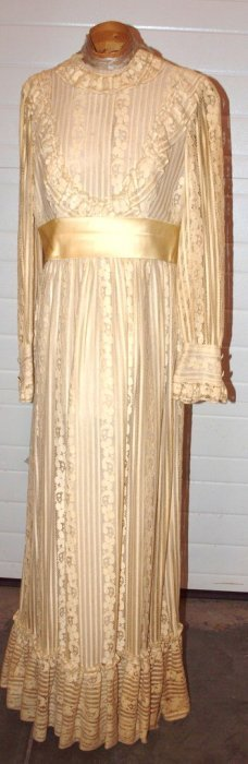 Early Ladies Wedding Dress From The Studebaker Family
