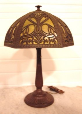 """Panel Glass Table Lamp, 12 1/2"""" Shade"""