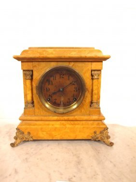 Seth Thomas Mantle Clock With Marble Style Finish