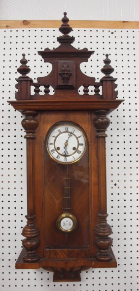 Walnut Vienna Regulator Wall Clock, 36""
