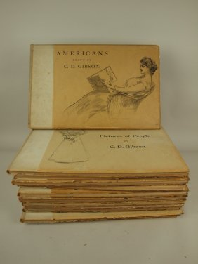Charles Dana Gibson Set Of 12 Hard Cover Books,