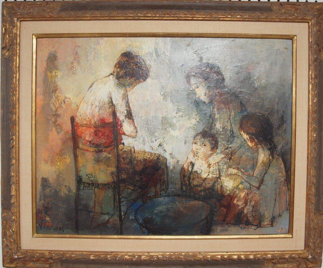 "Jean Jansem (1920-2013, France, Armenia) ""Personages"""