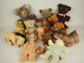 Lot Of 15 Teddy Bears & Animals