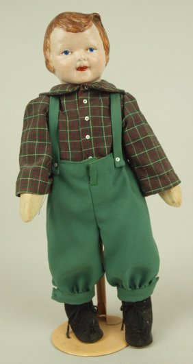 "Early Boy Doll With Compositin Head, 17"""
