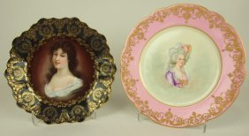 "Royal Vienna Beehive Portrait Plate 9"" And Sevres 9"