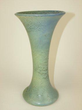 """Weller Frosted Mat Trumpet Vase, 10"""""""
