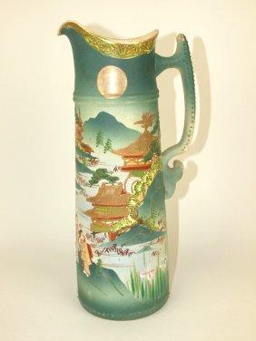 """Oriental Porcelain Tankard, 13 1/2"""""""
