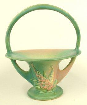 "Roseville Green Foxglove Basket, 374-10"", Professional"
