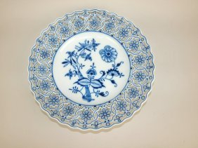 "Meissen ""blue Onion"" Reticulated Charger, 11 1/4"""