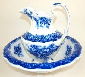Grindle Perth Flow Blue Pitcher & Bowl Set