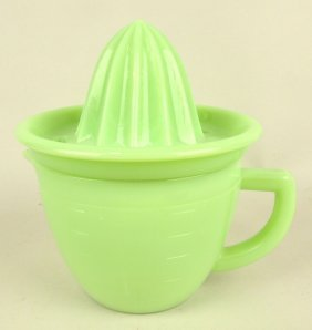 Jadeite Juicer And Pitcher