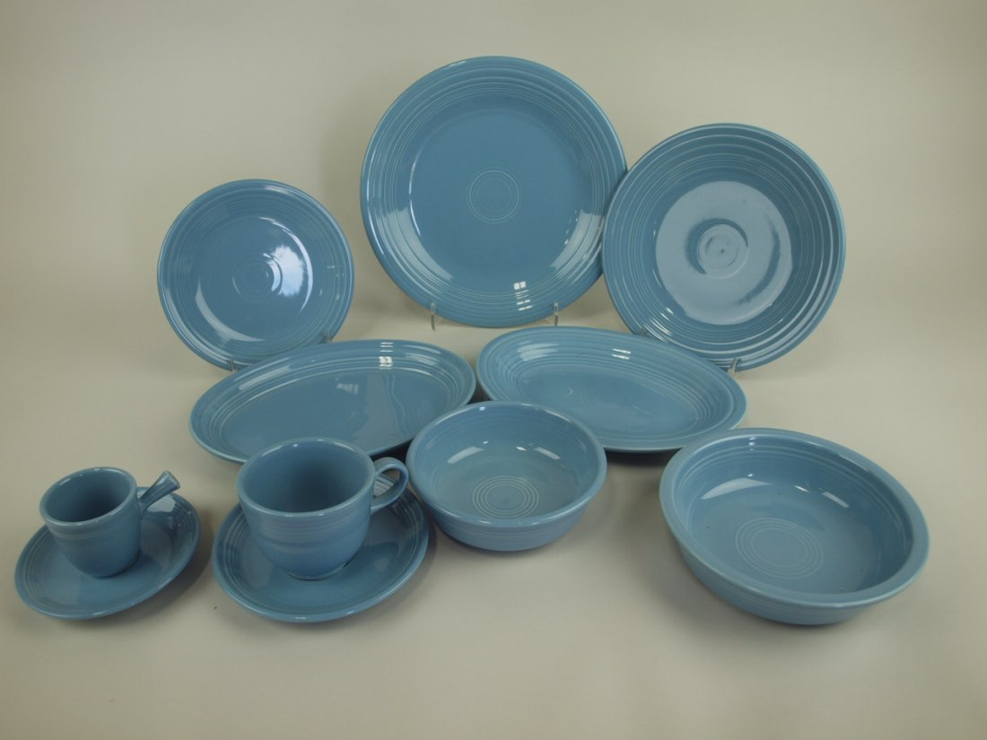 Fiesta Post 86 periwinkle lot of 9 pieces