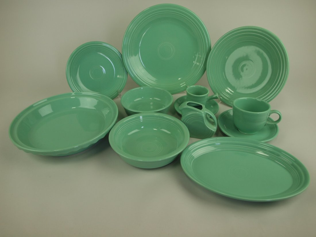 Fiesta Post 86 seamist green lot of 10 pieces