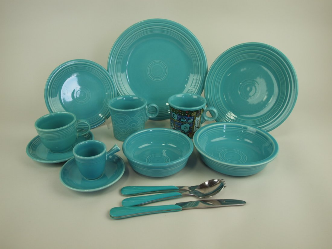 Fiesta Post 86 turquoise lot of 10 pieces