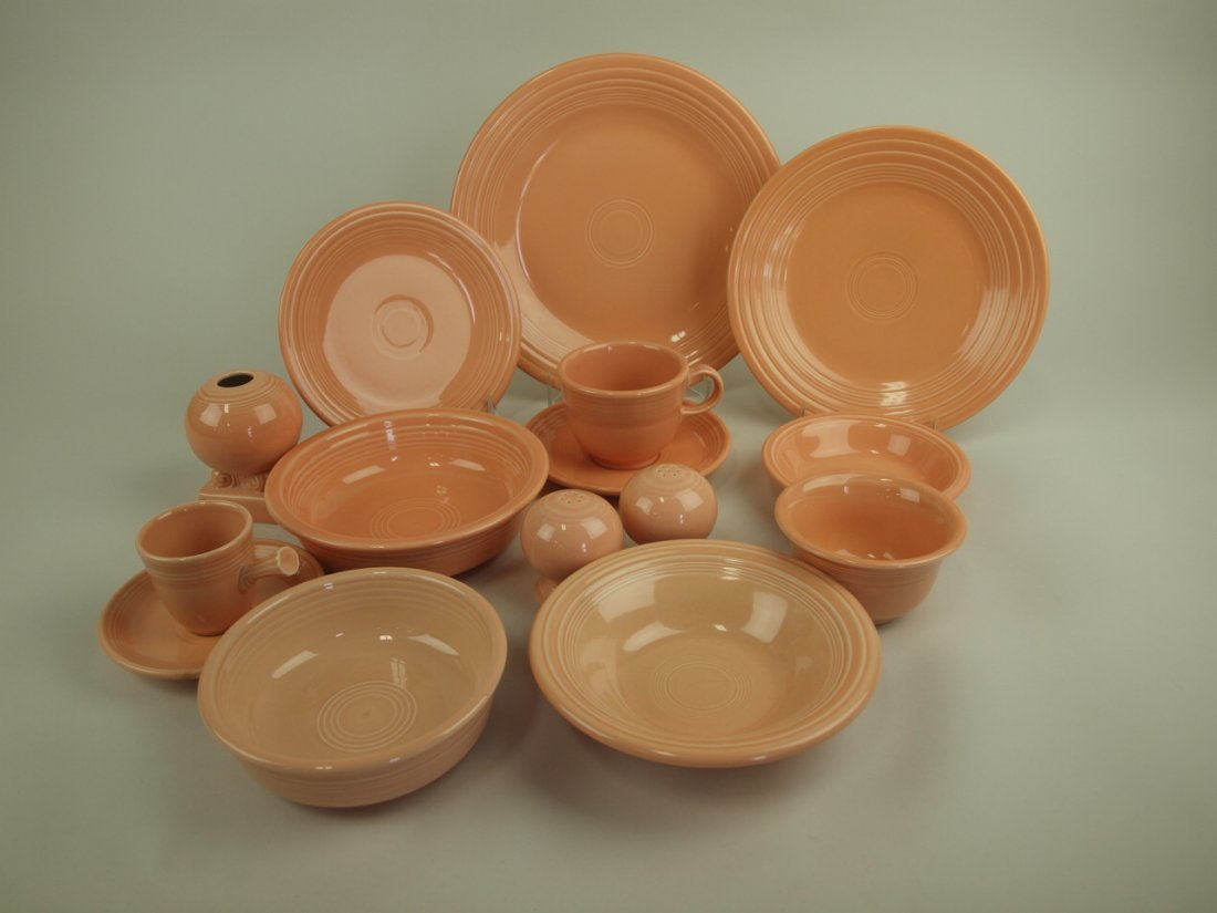 Fiesta Post 86 apricot lot of 12 pieces