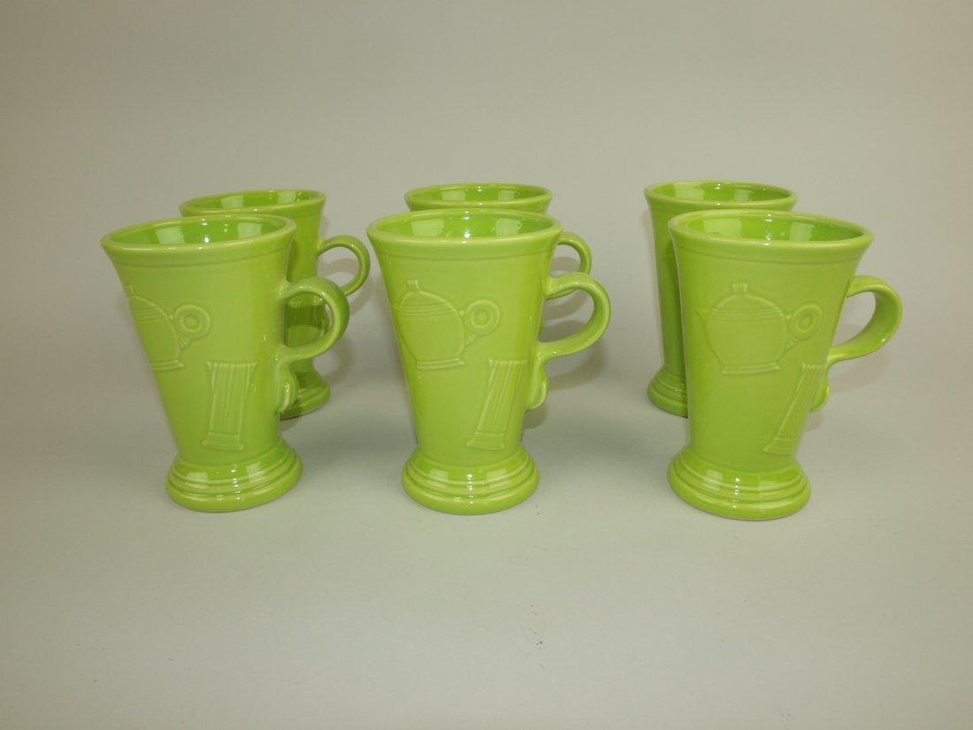 Fiesta Post 86 chartreuse set of 6 pedastal mugs