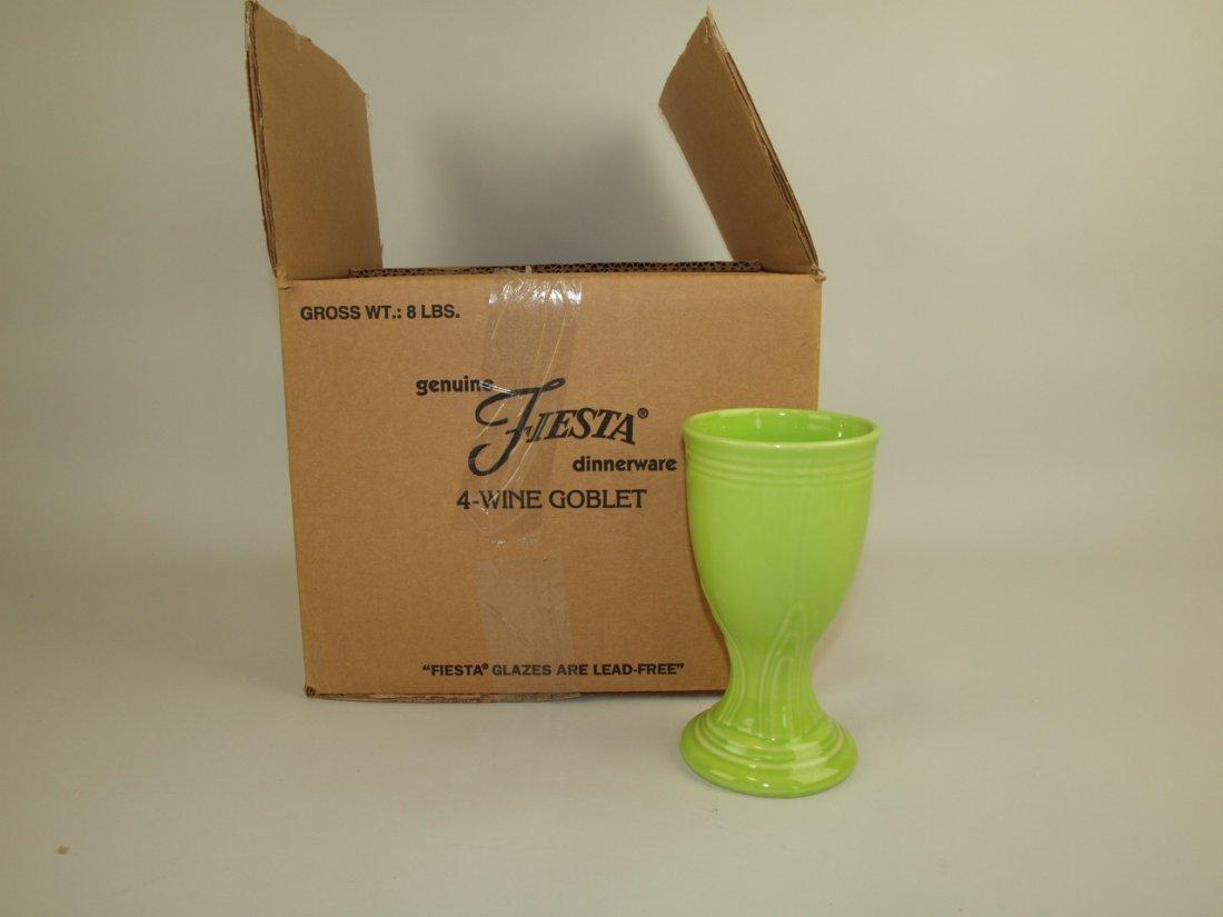 Fiesta Post 86 set of 4 wine goblets, NIB