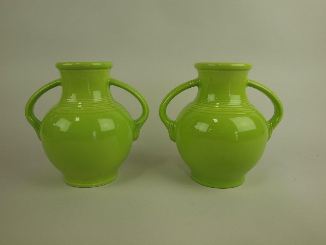 Fiesta Post 86 lot of 2 Millennium vases