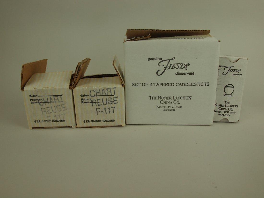 Fiesta Post 86 2 sets of 4 napkin rings, pair tapered