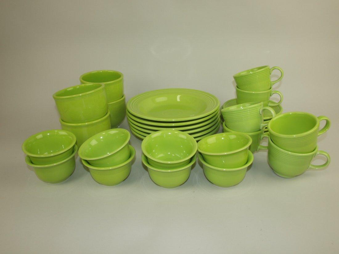 "Fiesta Post 86 chartreuse group: 6-9"" rim soup bowls, 4"