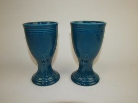 Fiesta Post 86 Juniper Pair Wine Goblets