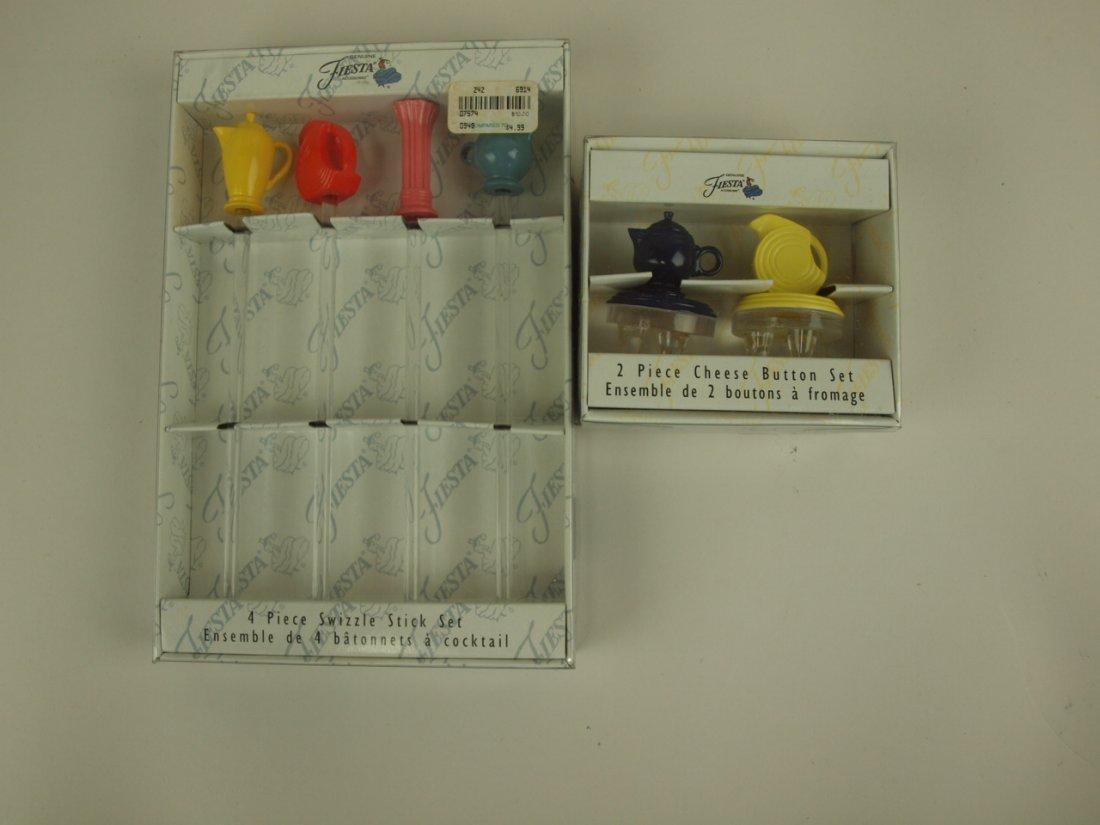 Fiesta Post 86 4 piece swizzle stick set and 2 pc