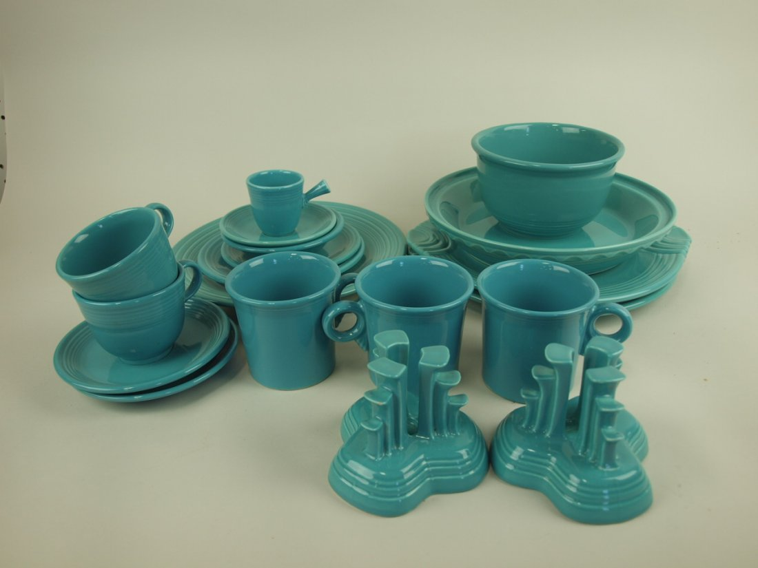 Fiesta Post 86 turquoise lot of 15 pieces