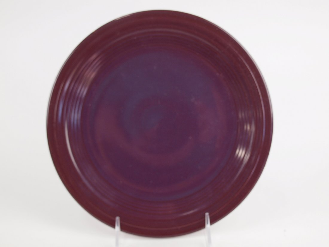 """Fiesta Post 86 RARE Raspberry 9"""" plate, only one made,"""