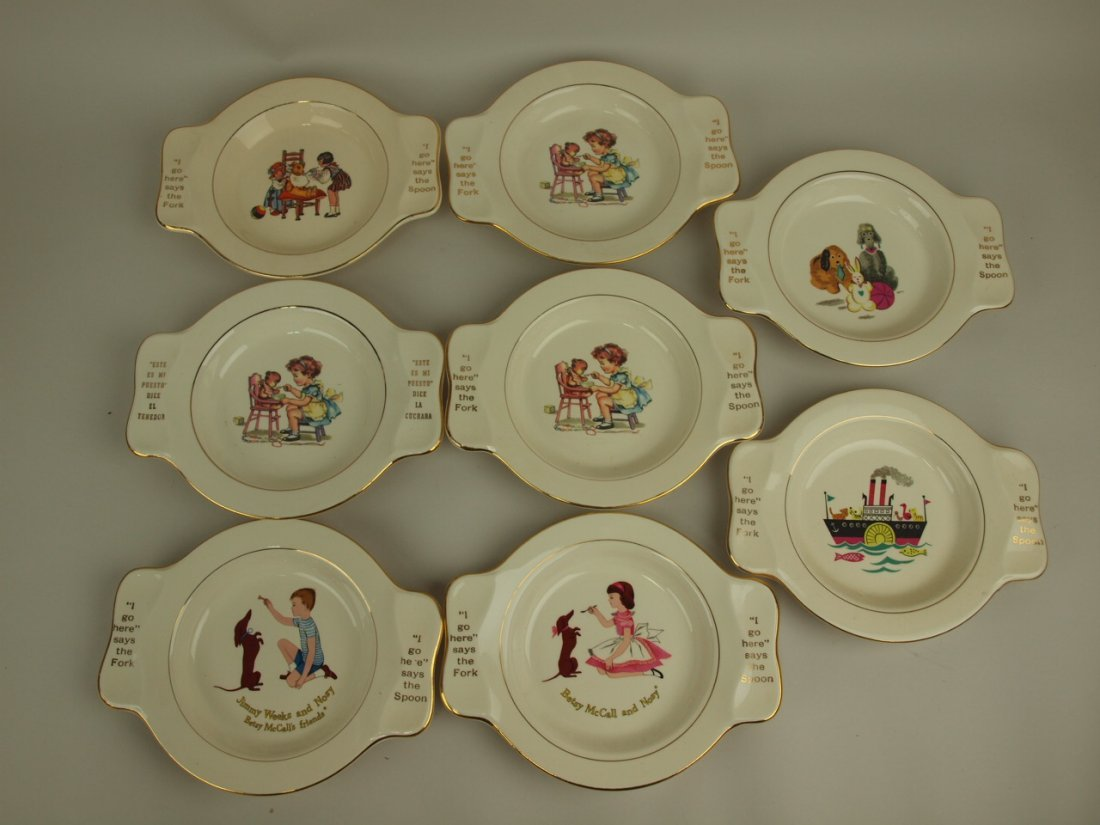 Homer Laughlin lot of 8 childs plates made for the