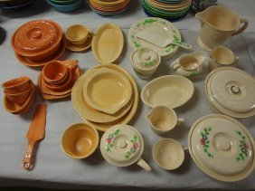 Homer Laughlin Oven Serve Lot Of 33 Pieces