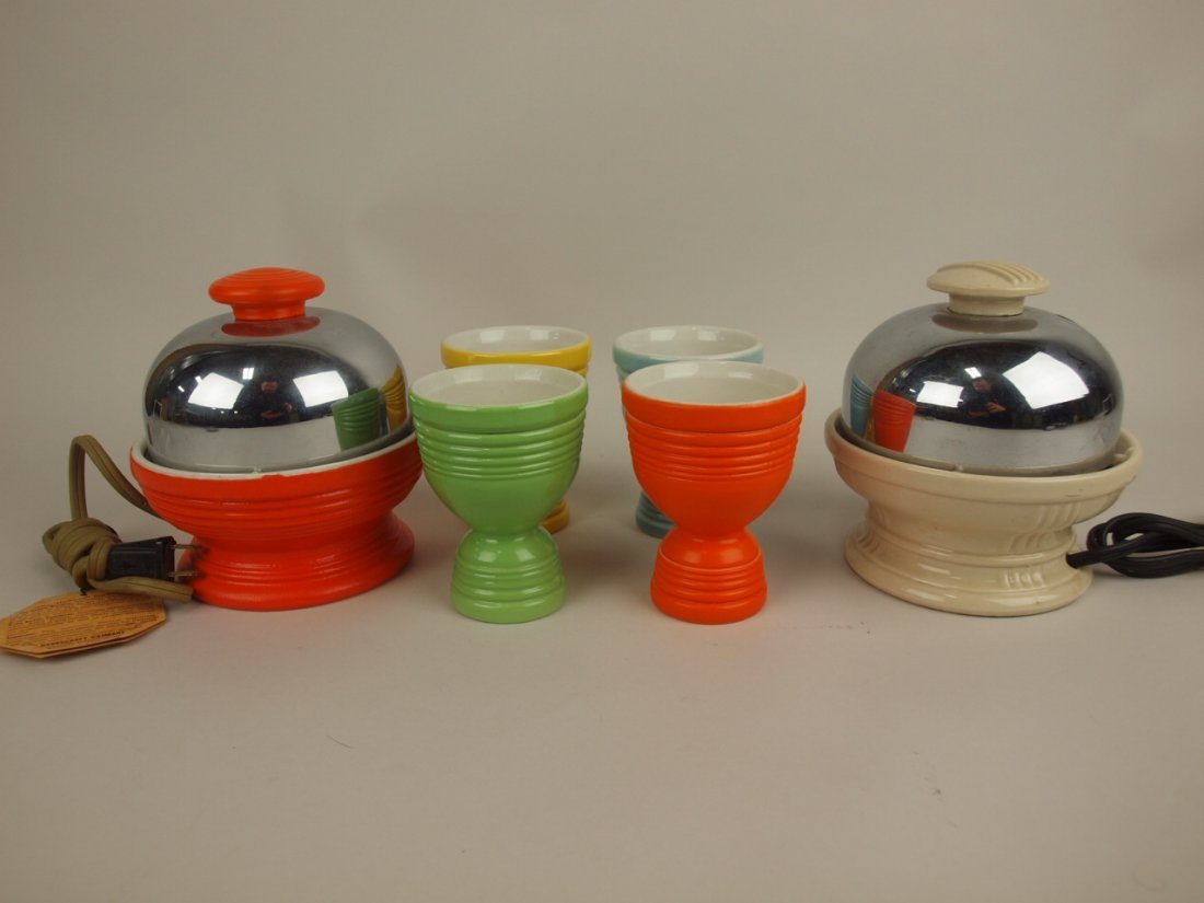 Hankscraft lot of 2 egg poachers, & 4 egg cups