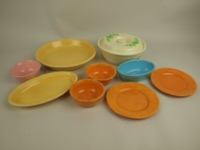 Homer Laughlin Oven Serve Lot Of 9 Pieces
