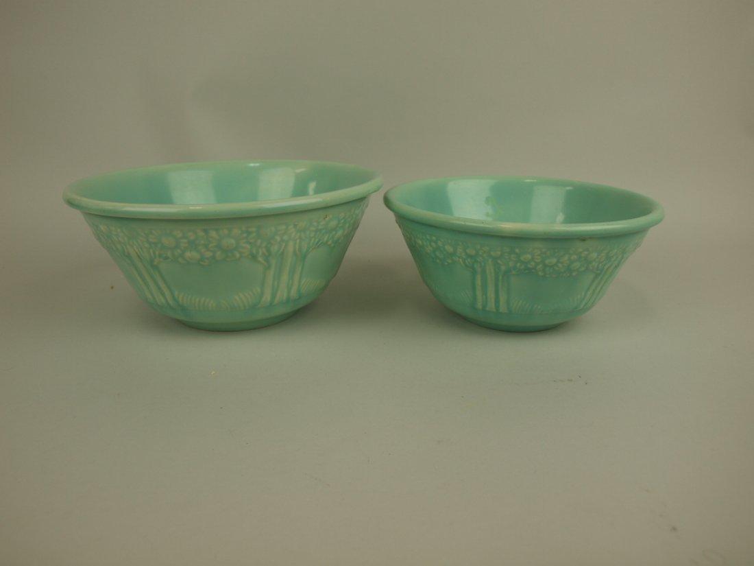 Homer Laughlin lot of 2 apple tree bowls