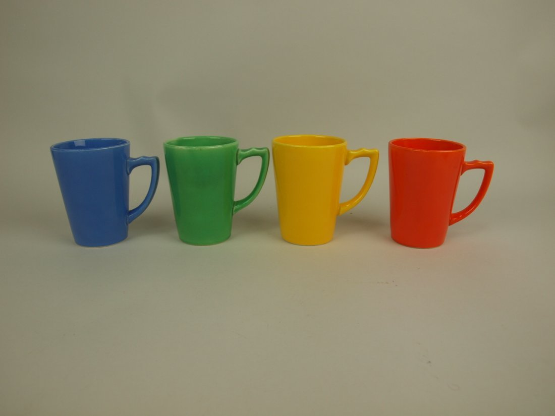 Riviera handled tumbler group of 4: mauve blue, green,