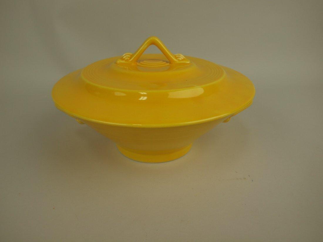 Fiesta Harlequin yellow casserole