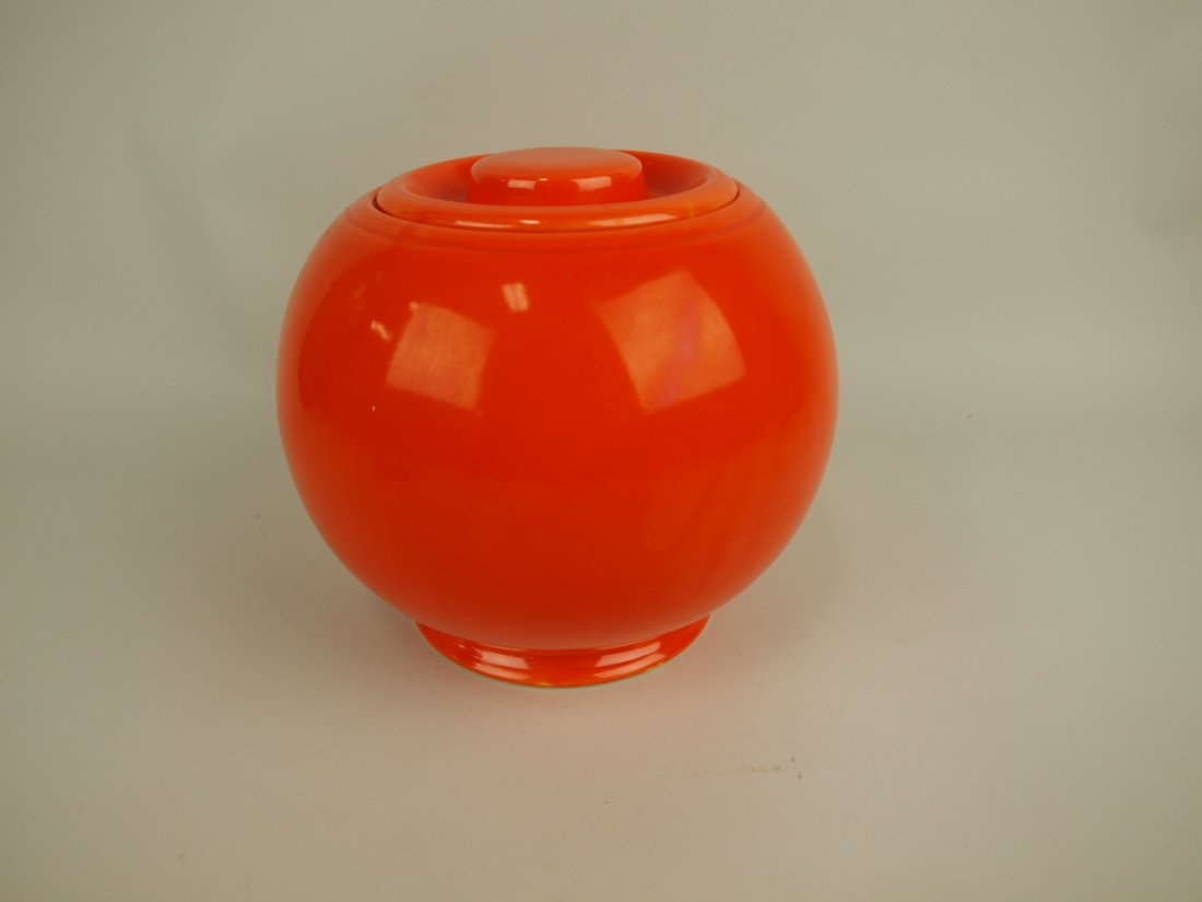 Fiesta Kitchen Kraft red large ball canister