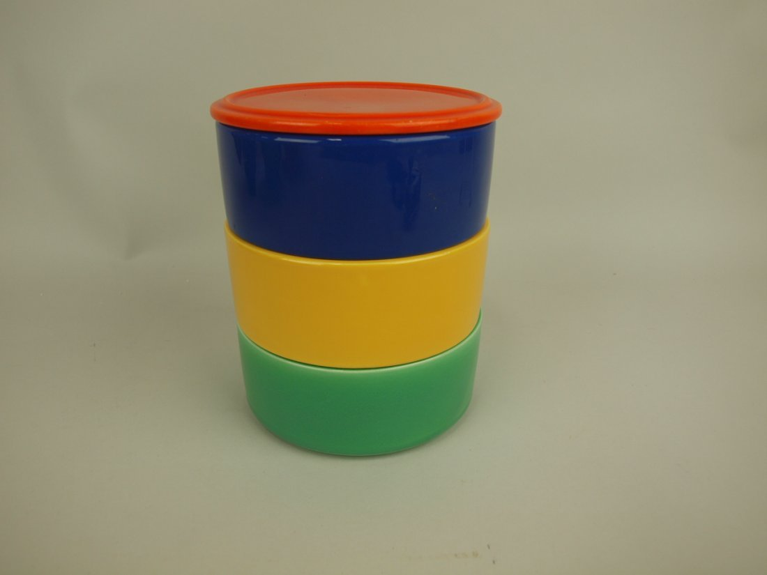 Fiesta Kitchen Kraft stacking set: red lid (minor