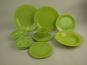 Fiesta Chartreuse 9 Piece Place Setting