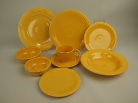 Fiesta Yellow 9 Piece Place Setting