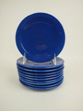 """Fiesta 6"""" Plate Group, 10 Cobalt"""