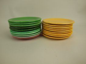 """Fiesta 6"""" Plate Group, 19 Mixed Colors"""