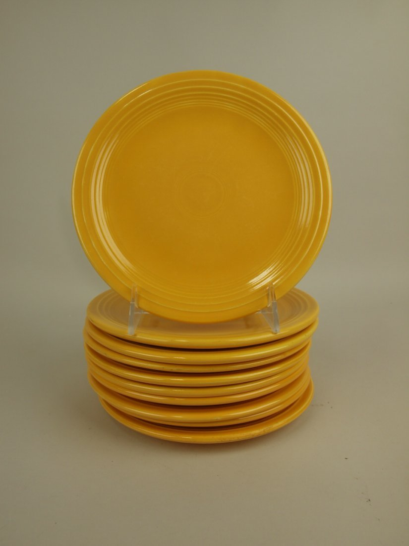 "Fiesta 7"" plate group, 10 yellow"