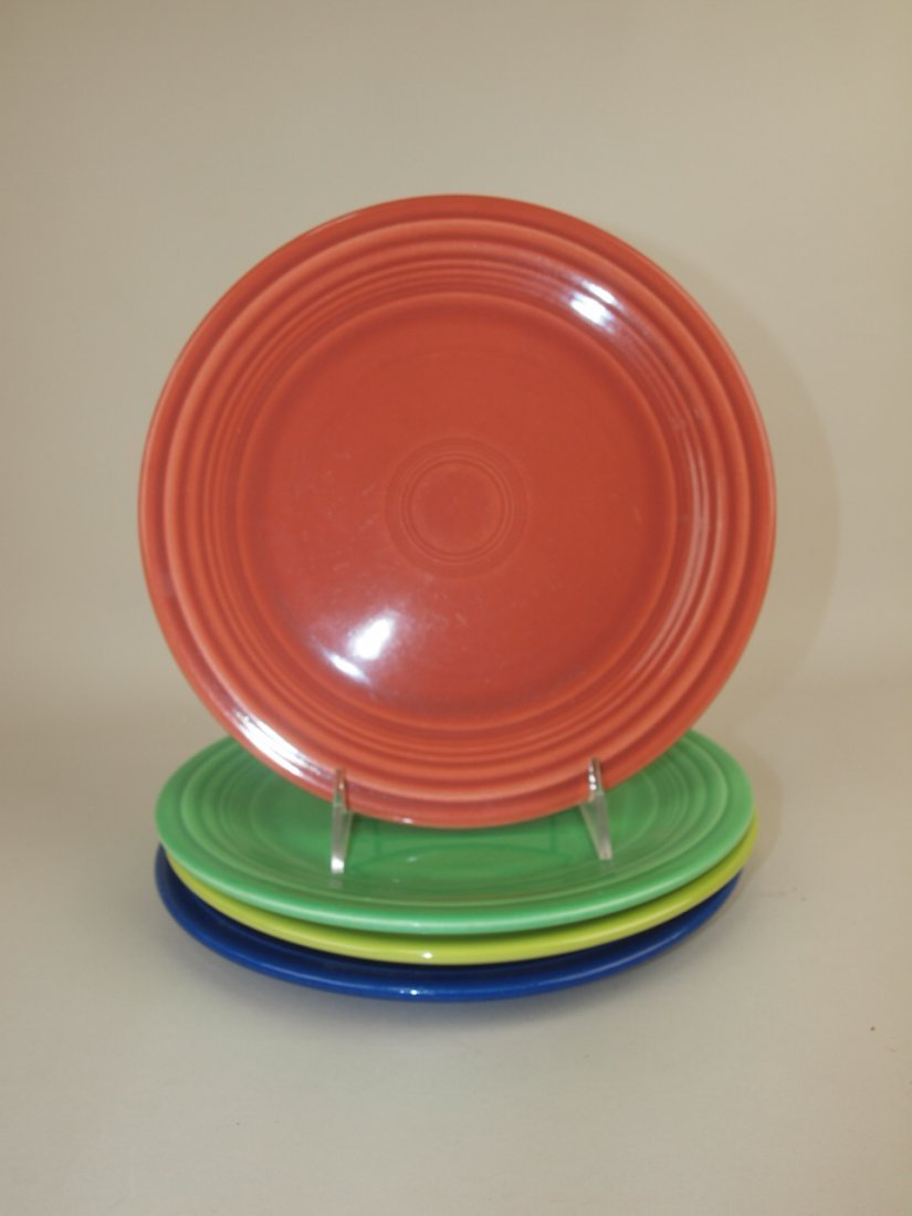 "Fiesta 9"" plate group, 4 mixed colors"