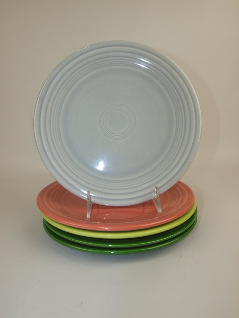 "Fiesta 9"" plate group, 5-50's colors"